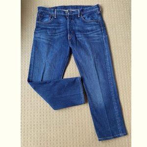 Levi's 501 classic men straight leg jeans 34x32